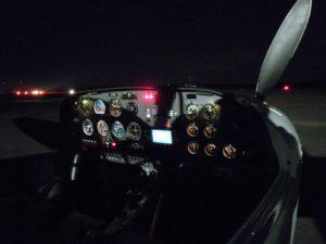 KPSV Cockpit bei Nachflug